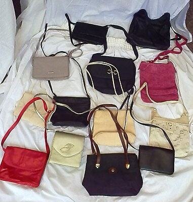 MIXED LOT OF 27 LADIES SHOULDER BAGS & HAND BAGS - Mixed Styles & Colours
