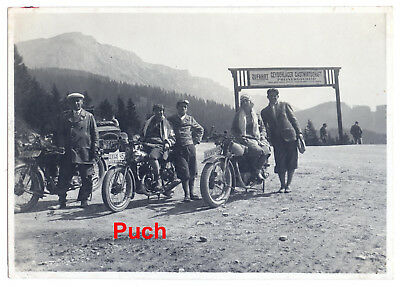 Portrait Foto Puch Motorrad Oldtimer,vintage photo puch motorcycle,motorbike,Rax