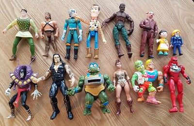 14 Vintage Action Figures from the 80s and 90s, Toy Story, Power Rangers, Dr Who