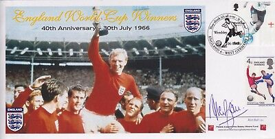 Stamps Football First Day Cover Signed England 1966 Legend Alan Ball 1945-2007