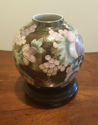 Stunning Chinese Ginger Jar on Stand