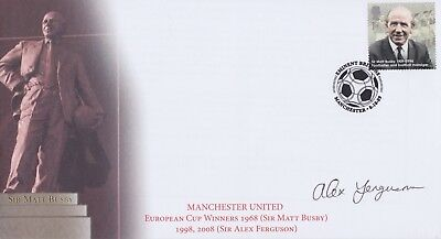 Stamps Football Cover Signed By Manchester United Manager Sir Alex Ferguson