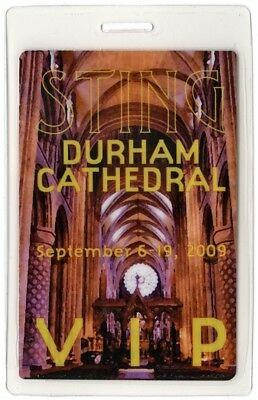 Sting authentic 2009 Laminated Backstage Pass Winter's Night Durham Cathedral