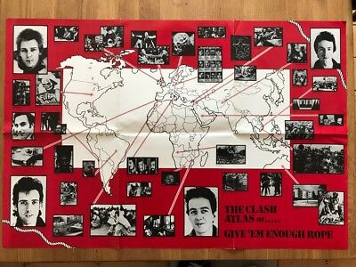 The Clash - Give 'Em Enough Rope 1978 Promo Poster - VERY RARE - VG+ CONDITION