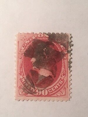 U S Stamp #167 CV$275 F 90c Perry Used
