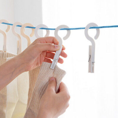 4X Clothes Pegs Laundry Drying Hanger Storage Rack Washing Towel Clips Holder NB