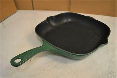 CHASSEUR Invicta  Cast Iron Griddle Skillet Grill Pan GREEN made in France