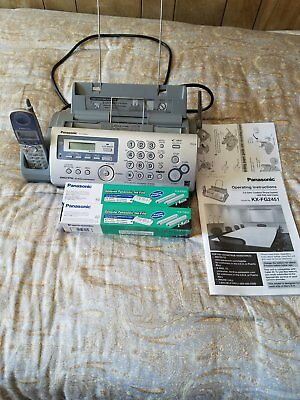 Panasonic Fax,  Phone, and answering machine unit with 2 extra fax ink rolls