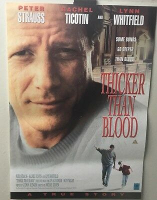 THICKER THAN BLOOD  video poster 42cm x 59cm