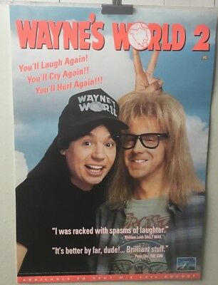 WAYNE'S WORLD 2  video poster 42cm x 59cm