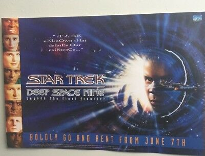 STAR TREK video poster 42cm x 59cm DEEP SPACE NINE