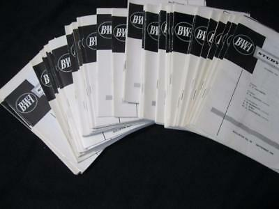 48 Issues Of The Bwi Study Circle From Sep 1966 - Dec 1982 Incomplete
