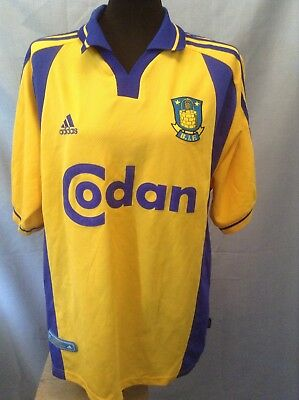 Vintage ( SQUAD SIGNED) Brondby shirt. Adults Large. RARE