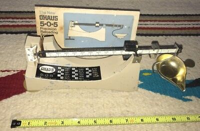 Vintage Ohaus 505 Powder Reloading Scales Made in USA