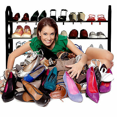 16-20 Pairs Home Adjustable Shoe Holder Rack Stand Organizer Shelf Easy Assemble