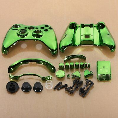 Green Custom Wireless Controller Replacement Shell Case Kit for Xbox 360 C4 H6Y8