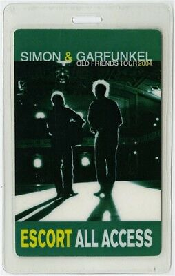 Simon & Garfunkel authentic 2004 Laminated Backstage Pass Old Friends Tour AA