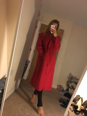 Size 10 12 Miss Pap Bright Red Coat Waterfall Jacket New Chic Classy Winter
