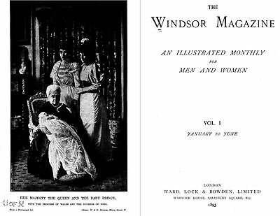 15 Volumes Of The Windsor Magazine 1895-1902 Louis Wain Black & White Scans DVD