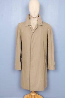 STUNNING Mens BURBERRY Single Breasted Short TRENCH Coat Mac Olive Size 40/42