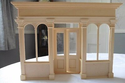 Dolls' House Wooden Double Shop Front 1/12Th Scale With Glazing