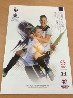 Tottenham Spurs V West Ham Utd LADIES - Official PROGRAMME 19 April 2017 - MINT