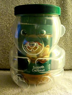 New - Kraft - Smooth Peanut Butter Bear - Plastic Container With Peanut Butter!!