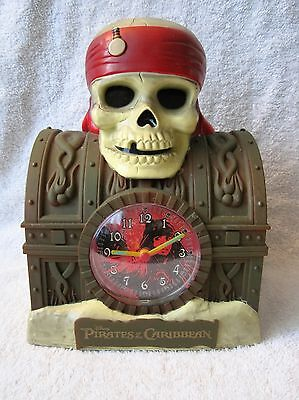 Pirates Of The Caribbean - Alarm Clock/bank - Working Condition - Collectible!!
