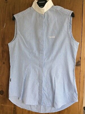 Tagg Ladies Sleeveless Fitted Show Shirt