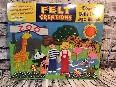 Felt Creations Activity Board -The Zoo, Kids And Animals