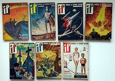 If Science Fiction Magazine 7 rare very early issues nos.1954 first uk edition.