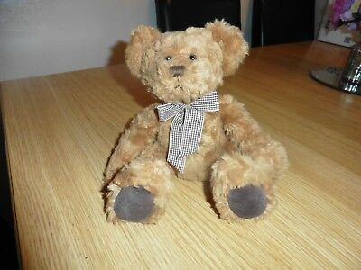 Russ bear - Langley, with checked neckerchief.