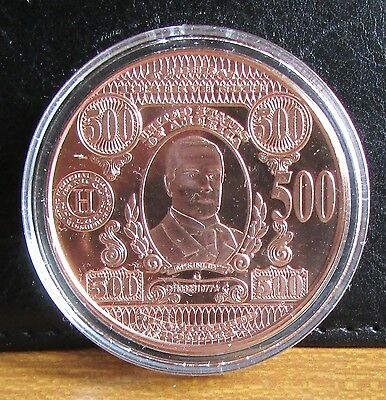 $500 Face Value Proof Coin / Medallion of 1 oz .999 Copper by Art Bar Mint