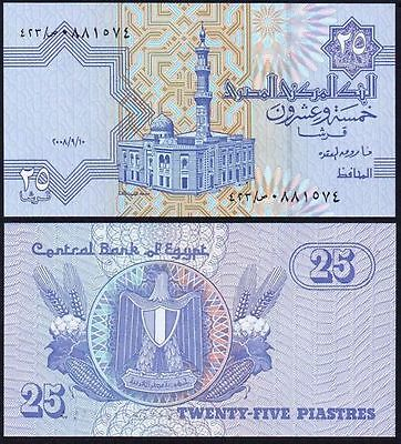 25 Egyptian Piastres note Uncirculated Brand new with Free Post