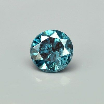 Rare! 0.09ct 2.6mm Round Brilliant Natural Fancy Blue Diamond