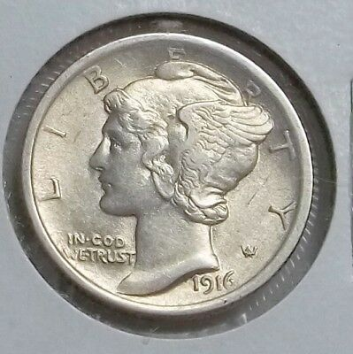 1916-P Mercury Dime in higher circulated grade. Nice Luster...Let's deal