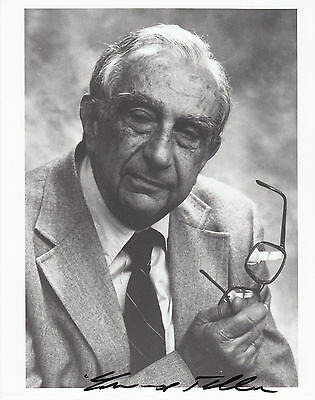 EDWARD TELLER hand signed b&w 8x10 autographed photograph photo h - physicist