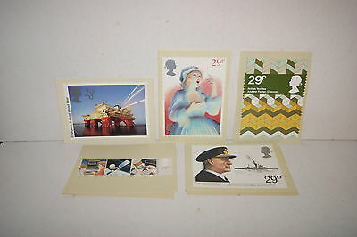 Royal Mail PHQ postcards 1982/3/4 5 sets.