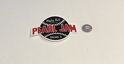 Pearl Jam Wrigley Field 2016 Official Sticker And Pin