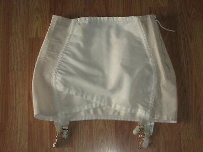 Vintage Flirtation Walk Open Bottom Girdle garters  4 Snap Tummy Support Panel