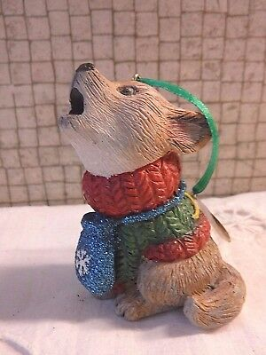 Danbury Mint WOLF Baby Animals Christmas Ornament with Tag
