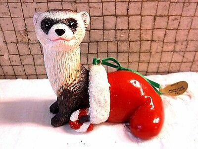 Danbury Mint FERRET Baby Animals Christmas Ornament with Tag