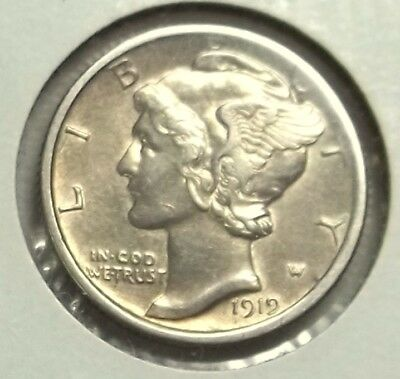 1919-P Mercury Dime in higher grade. Polished in Italy..Let's deal