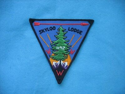 1960's BSA Order of the Arrow / OA Skyloo Lodge 442 Pie Patch P1 or P2 Mint.