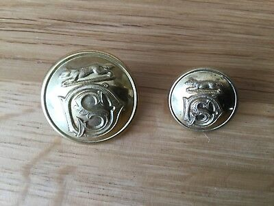 Pair of Hunt Buttons for The South Dorset Hunt. Pitt.