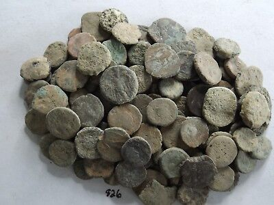 Lot of 110 Very Low Quality Uncleaned Ancient Roman;  172 Grams!