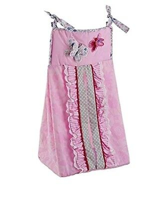 Just Born Antique Chic Diaper Stacker Butterfly Pink Infant Girls New