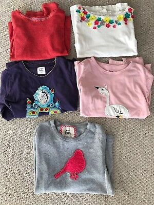 Mini Boden Girls Age 7-8 Bundle Of 5 Long Sleeve Tops. Good Condition!