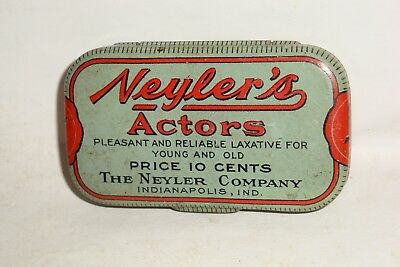 Nice Old Flat Pocket Nylers Laxative Advertising Pharmaceutical Medicine Tin Can