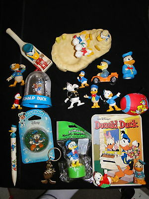 Collection vintage  Disney Donald Duck vinyl Figures memorabilia Lot 7
